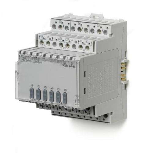 Модуль ввода/выводана 6 релейных выходов с локальным управлением TXM1.6R-M