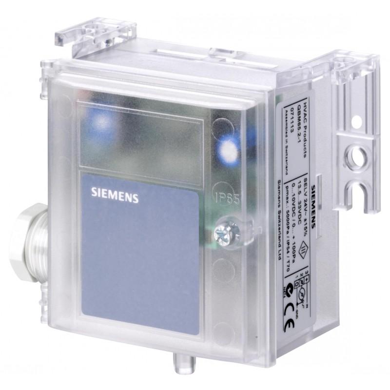 Датчик перепада давления, 0…10 V DC, 0...1000 Pa QBM3020-10D