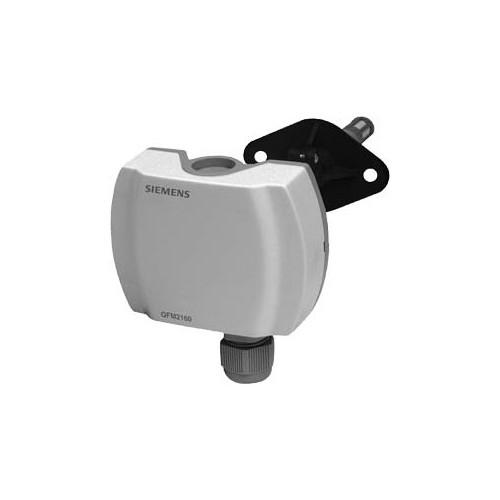 Датчик влажности канальный, DC0…10V, 0…95%, вкл. монтажный фланец QFM2100
