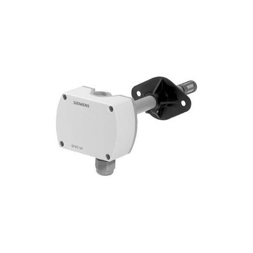 Датчик влажности канальный, DC0…10V, 0…100%, вкл. монтажный фланец QFM3100