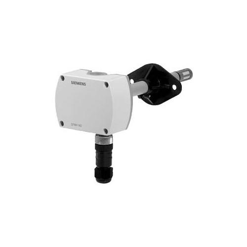 Датчик влажности и температуры канальный, DC0…10V, 0…100%, -40…+70 ?C, вкл. монтажный фланец QFM4160