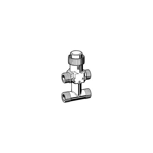 Клапан 3-ходовой зональный с байпасом  PN16 DN-15 Kvs-1,0 VZ42-G1/2-1,0