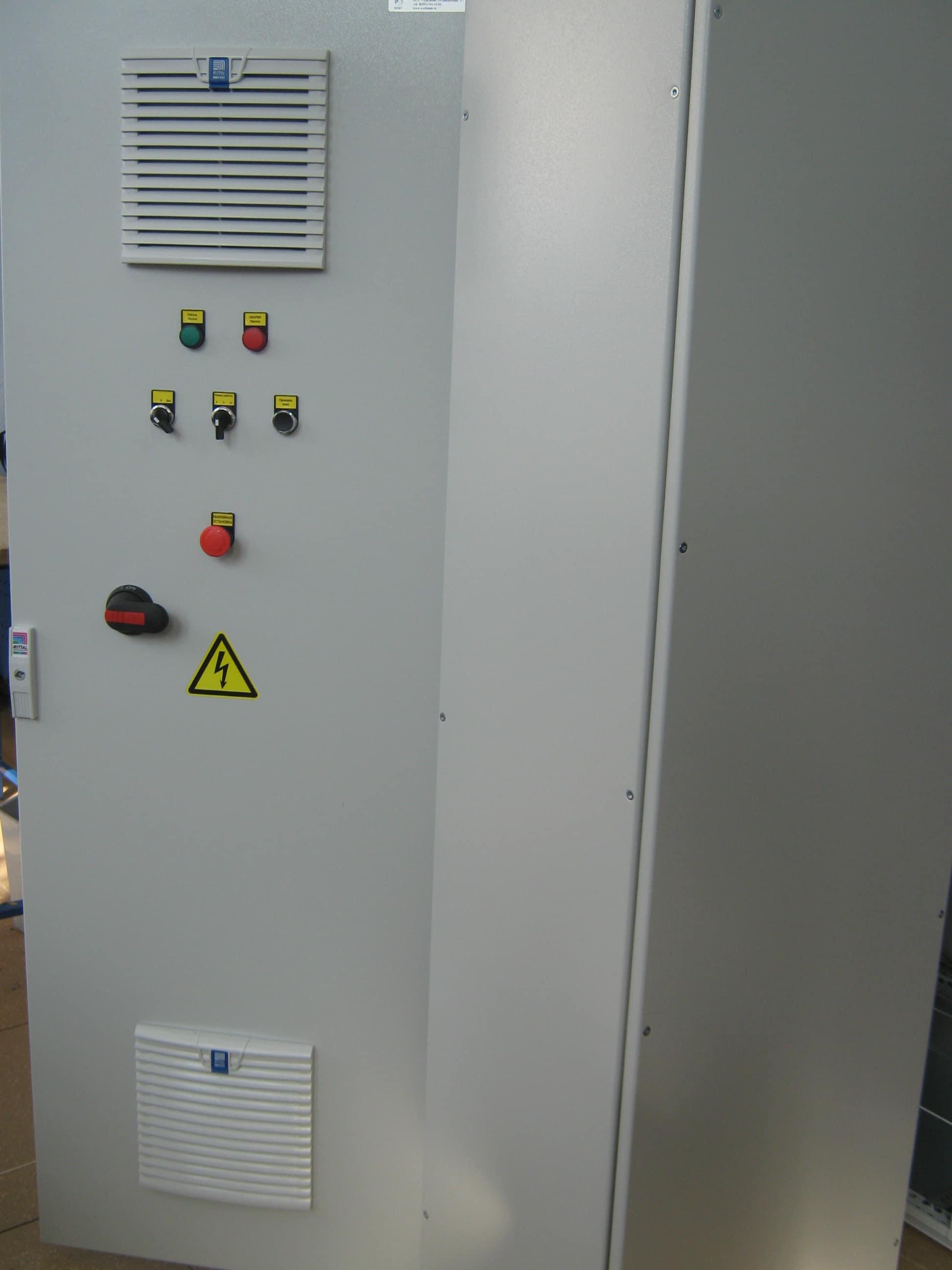Сборка щитов управления насосами от компании А-климат в Москве